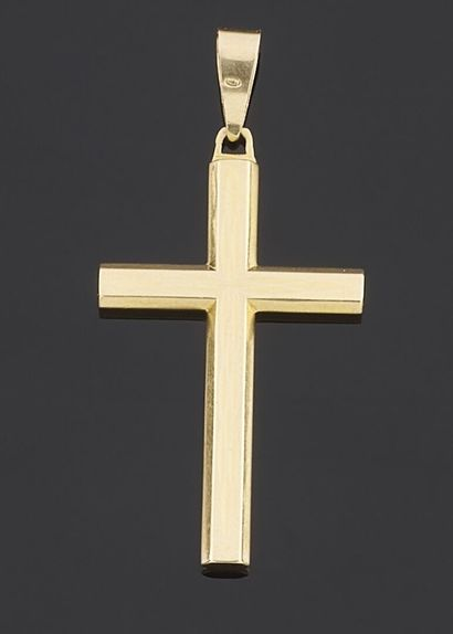 PENDANT cross in yellow gold 750 thousandths...