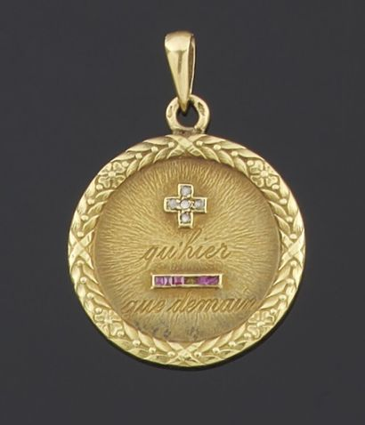 PENDANT in yellow gold 750 thousandths of...