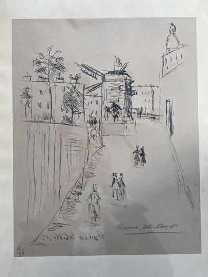 Maurice UTRILLO (1883 - 1955)  Le moulin...
