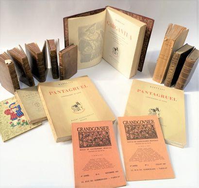 François RABELAIS  Ensemble de volumes dont...
