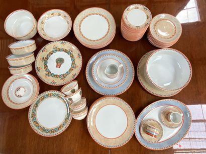 * VILLEROY & BOCH  Partie de service en porcelaine,...