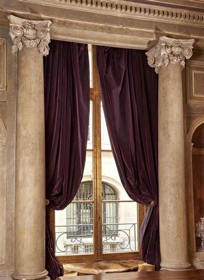 RIDEAUX et double rideaux en velours et soie...