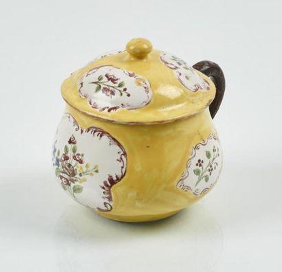 HOLICS Pot à crème couvet en faïence à décor...