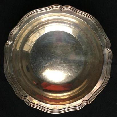 Jatte ronde et creuse en argent uni 950°/oo...