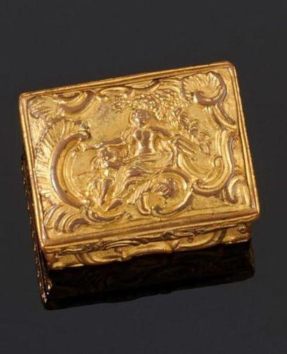 Deux boîtes rectangulaires en métal doré...