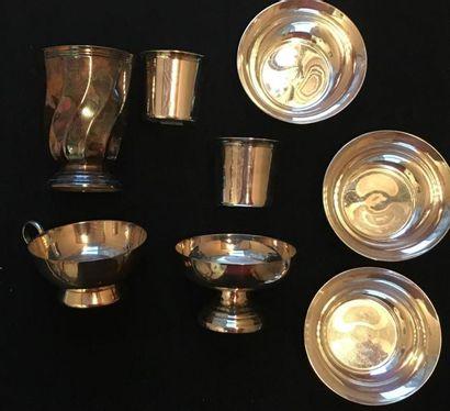 CHRISTOFLE & PLASAIT Ensemble en métal argenté...