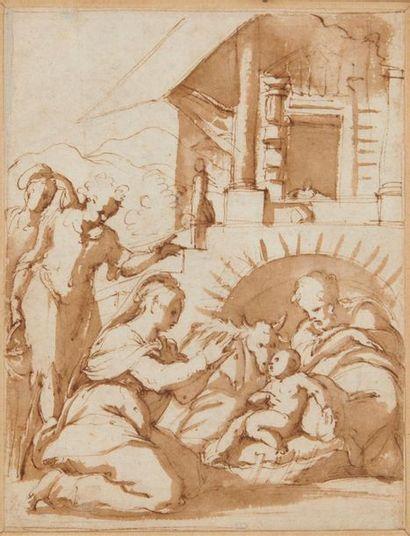 Giorgio VASARI (1511-1574) L'Adoration des...
