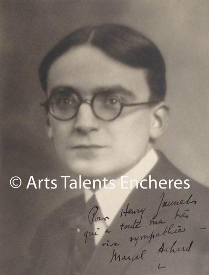 MARCEL ACHARD Portait dédicacé c.1920. Epreuve...