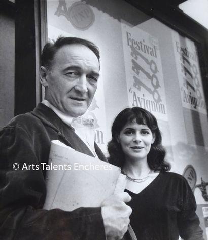 AGNES VARDA  Portrait de Jean Vilar et Catherine...