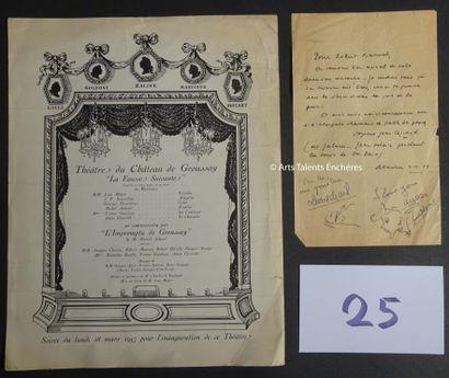 THEATRE DU CHÂTEAU DE GROUSSAY  Invitation...