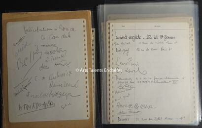 VICTOR BRAUNER  Guestbook of Unica Zurn in sheets for her exhibition at the gallery...