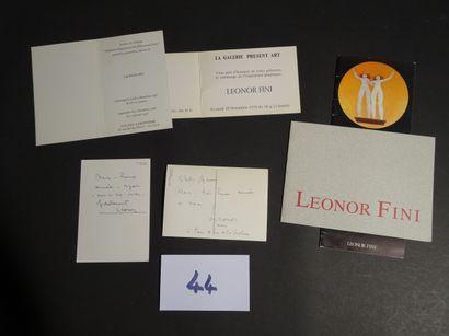 LEONOR FINI  2 cartes signées de l'Artiste...