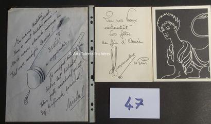 ALEXANDRE DE PARIS  Carte de voeux signée...