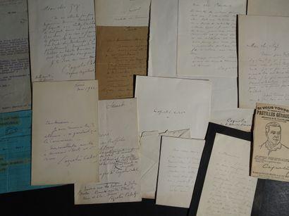 COQUELIN CADET  Ensemble de 11 lettres LAS...