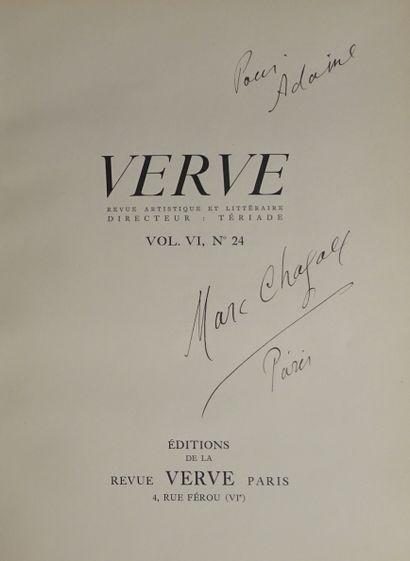 CHAGALL  Envoi autographe signé de Marc Chagall...