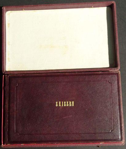 ALBUM AMICORUM vers 1914 Album en cuir ,...