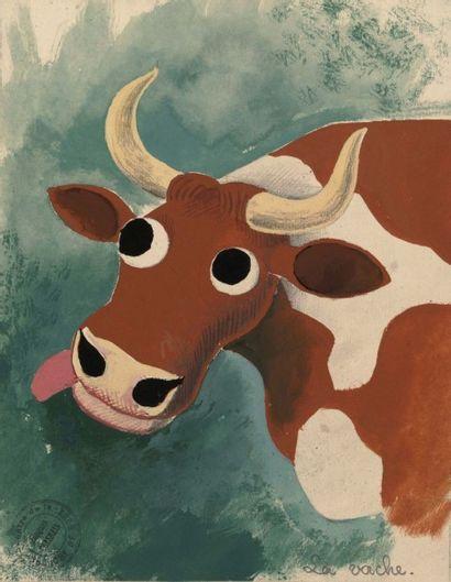 LA BRANCHE DE HOUX, 1937 La vache Nounounette,...