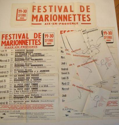 11 AFFICHES pour le Festival internationnal...