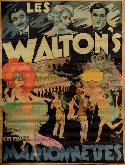 COMPAGNIE PAJOT-WALTON'S Affiche lithographiée 120 x 160 cm entoilée