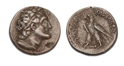KINGDOM OF EGYPT Ptolemy V (204-180 BC) Tetradrachma. Alexandria. Diademic bust...