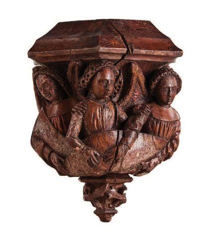 CULOT en chêne sculpté toutes faces avec...