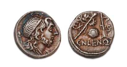 CORNELIA (76-75 BC)) Denier. Bust of the...