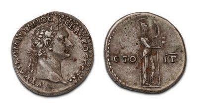 DOMITIAN (81-96) Didrachme. Caesarea of Cappadocia....