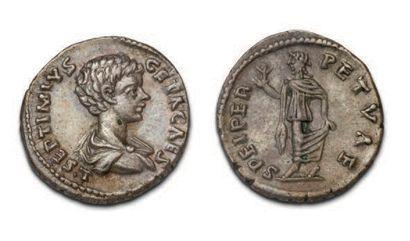 GETA (198-212) Denier. Laodicée. Son buste...