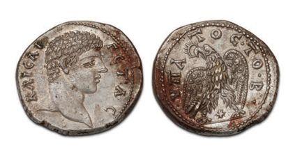 GETA (198-212) Tétradrachme. Laodicée (208-209)....