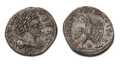 GETA (198-212) Tétradrachme. Laodicée (209-211)....
