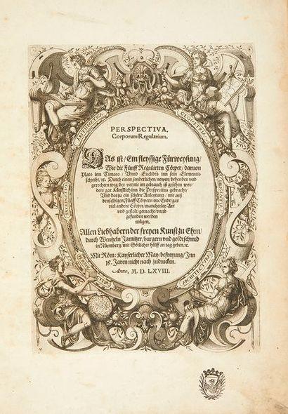 JAMNITZER, Wenzel Perspectiva Corporum Regularium. Das ist, Ein fleyssige Fürweysung,...