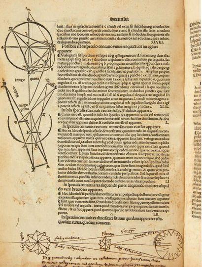 JOHANNES DE PECKHAM Prospectiva communis. Milan, Petrus de Corneno, [1482-1483?]....
