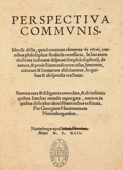 JOHANNES DE PECKHAM Perspectiva communis... Summa cura & diligentia emendata, & ab...