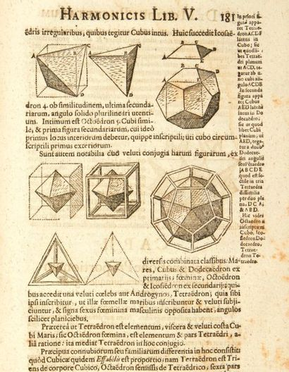 KEPLER, Johannes Harmonices Mundi libri V. Linz, Johann Planck pour Gottfried Tampach,...