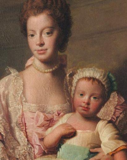 ALLAN RAMSAY ET SON ATELIER (EDIMBOURG 1713 - DOUVRES 1784) La Reine Charlotte et...