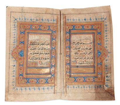 Coran Manuscrit sur papier de 448 feuillets...