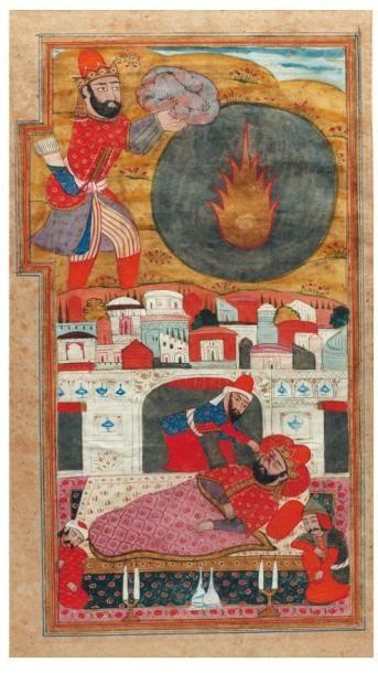 Abu'l Mihjan poignarde Navârdan Shâh dans...
