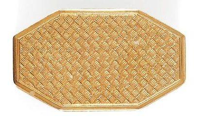 Tabatière octogonale en argent doré à décor...