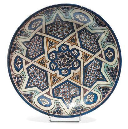 Quatre céramiques marocaines en faïences...