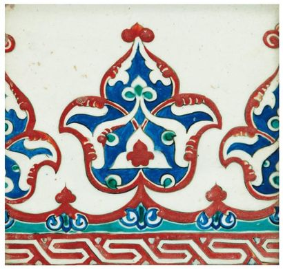 Carreau de bordure en céramique siliceuse...