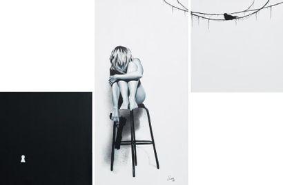 LILIWENN You kill me, 2011 Technique mixte - Acrylique / spray paint H_80 cm L_120...
