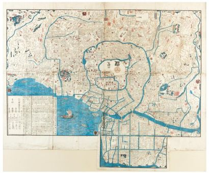 Carte de Edo (actuelle Tokyo). Tokyo, Izumiya...