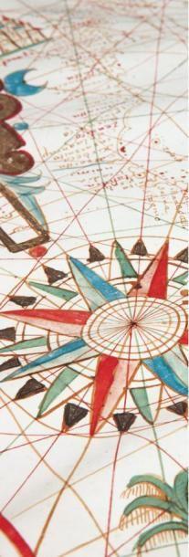 [PORTULAN] Carte de la Méditerranée. Messine, Placidus Caloiro et Oliva, 1649. Grande...