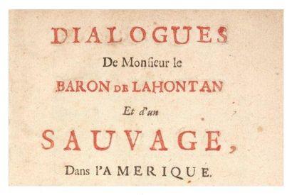 LA HONTAN (Louis-Armand de Lom d'Arce, baron de)
