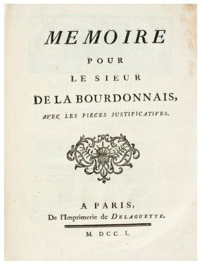 LA BOURDONNAIS (Bertrand-François Mahé de)
