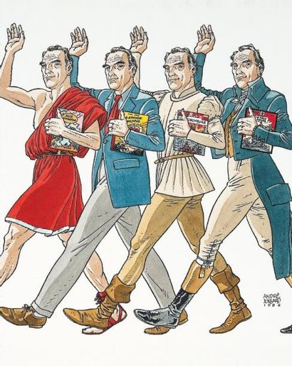 ANDRE JUILLARD (1948) Hommage aux Héros de Jacques Martin Illustration originale...