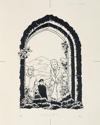 JACQUES MARTIN (1921-2010) « La Grande Menace » Ensemble composé de 61 pièces, dont:...