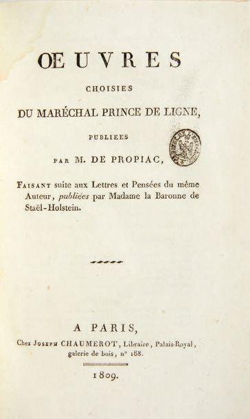 LIGNE, Charles Joseph, prince de.