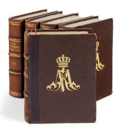 SAND, George. Histoire de ma vie. Leipzig, Auguste Schnée, 1854-1855. 11 tomes en...