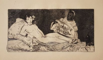 ZOLA, Emile. Ed. Manet. Biographical and critical study. Paris, E. Dentu, 1867. In-8...